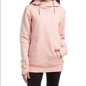 NWT Roxy Dipsy Technical Quilted Hoodie Pink Small